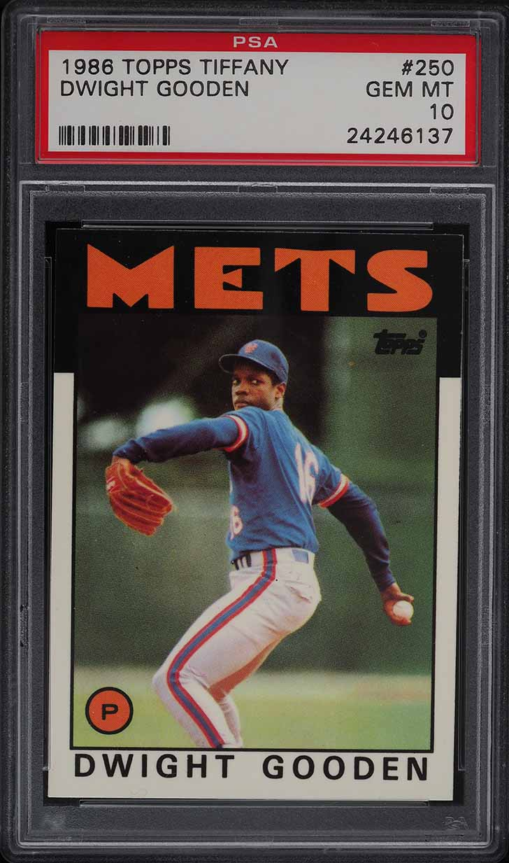 1986 Topps Tiffany Dwight Gooden #250 PSA 10 GEM MINT - Image 1