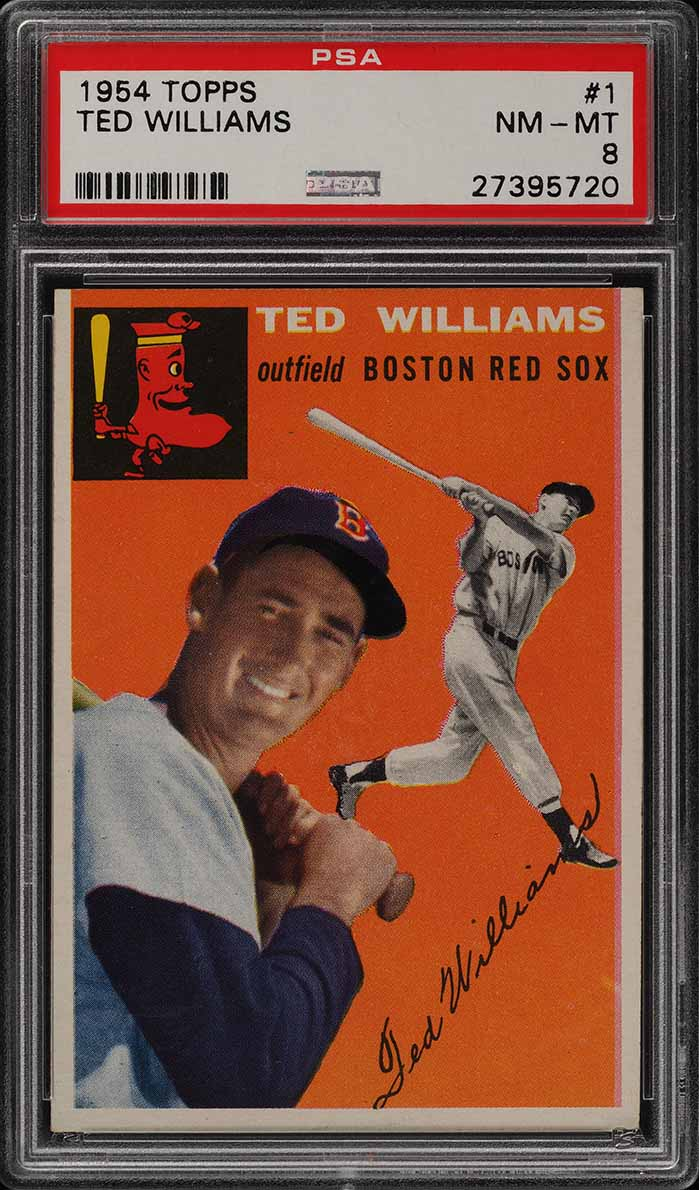 1954 Topps Ted Williams #1 PSA 8 NM-MT (PWCC-A) - Image 1