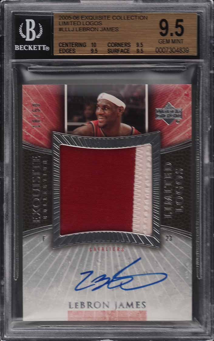 2005 Exquisite Collection Limited Logo LeBron James PATCH AUTO /50 BGS 9.5 PWCC - Image 1