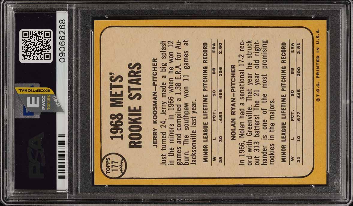 1968 Topps Nolan Ryan ROOKIE RC #177 PSA 8.5 NM-MT+ (PWCC-E) - Image 2