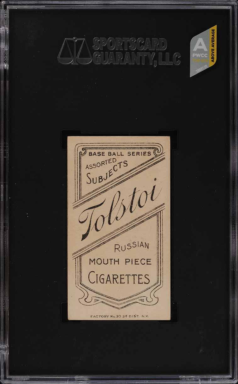 1909-11 T206 Ty Cobb RED PORTRAIT, TOLSTOI SGC 5.5 EX+ (PWCC-A) - Image 2