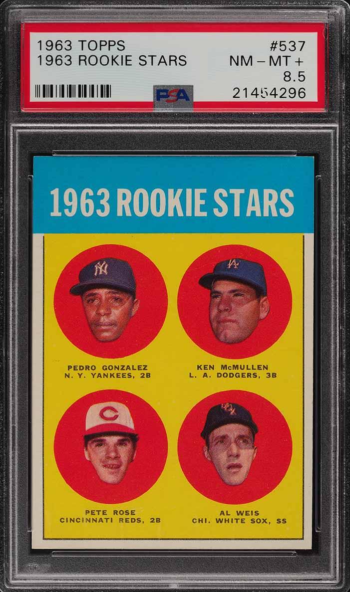 1963 Topps Pete Rose ROOKIE RC #537 PSA 8.5 NM-MT+ (PWCC) - Image 1