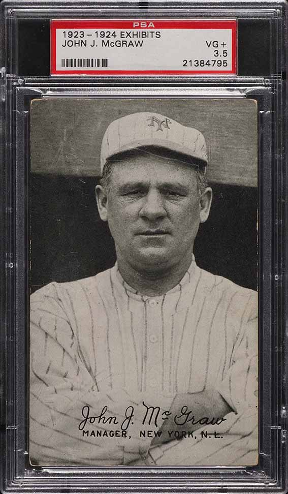 1923 Exhibits John McGraw PSA 3.5 VG+ - Image 1
