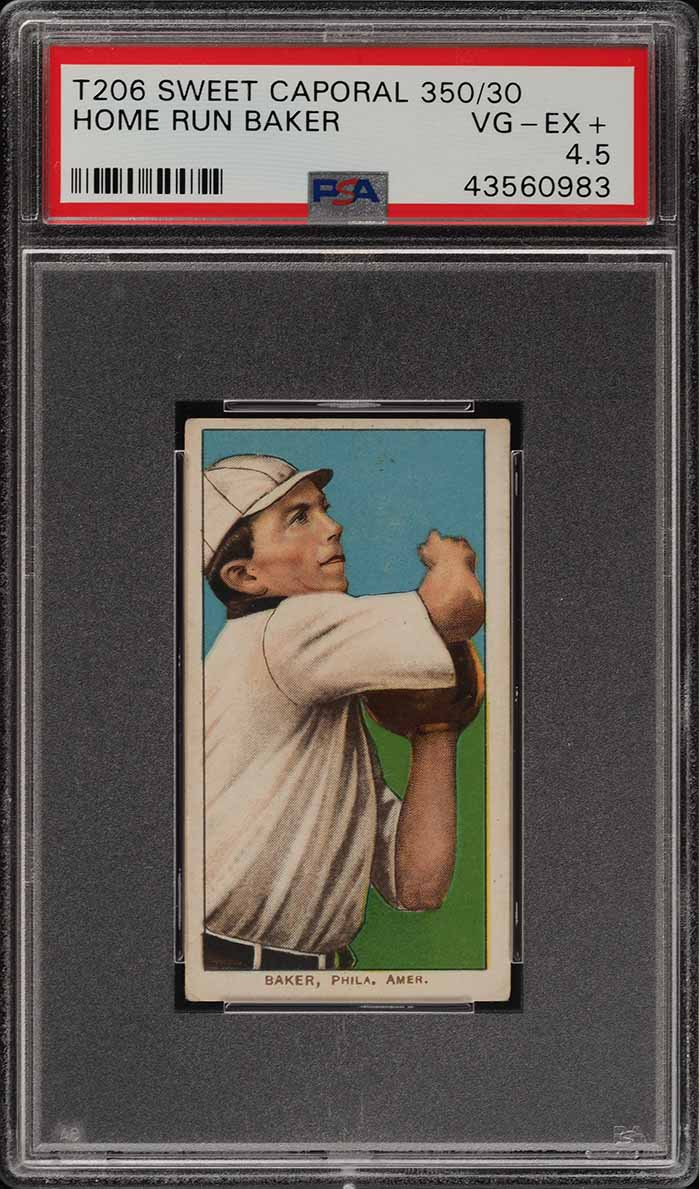 1909-11 T206 Frank 'Home Run' Baker PSA 4.5 VGEX+ (PWCC) - Image 1
