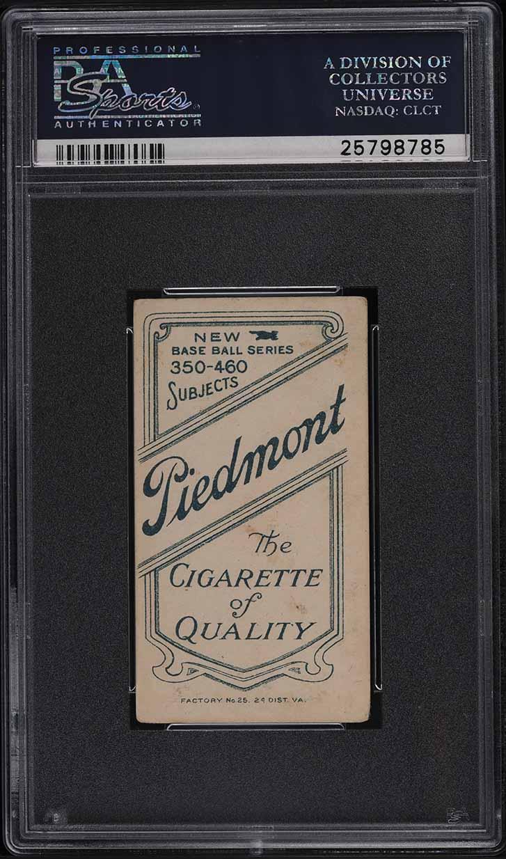 1909-11 T206 Bill Bergen CATCHING PSA 4 VGEX - Image 2