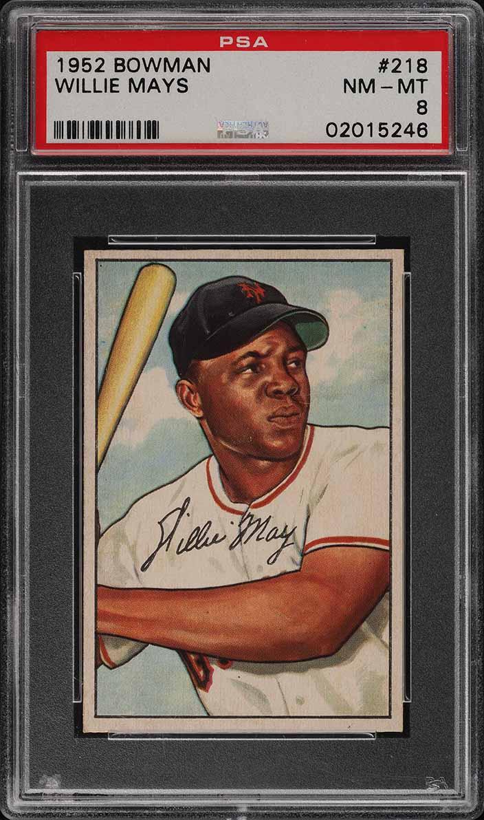 1952 Bowman SETBREAK Willie Mays #218 PSA 8 NM-MT (PWCC) - Image 1