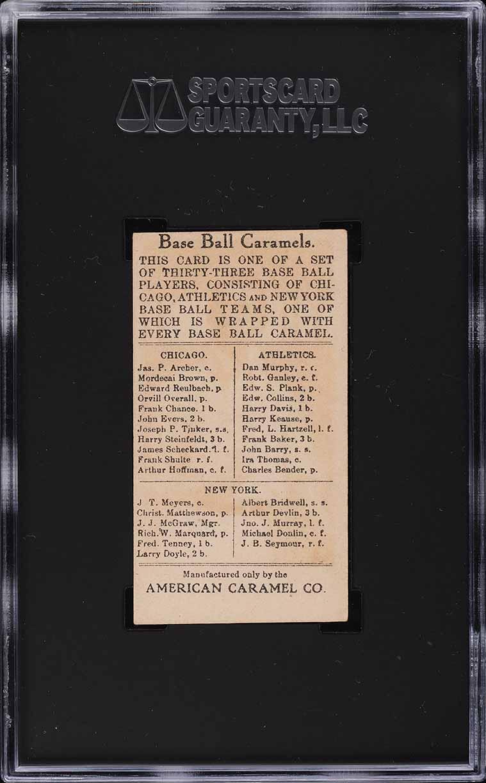 1909 E91-B American Caramel Eddie Plank SGC Auth - Image 2