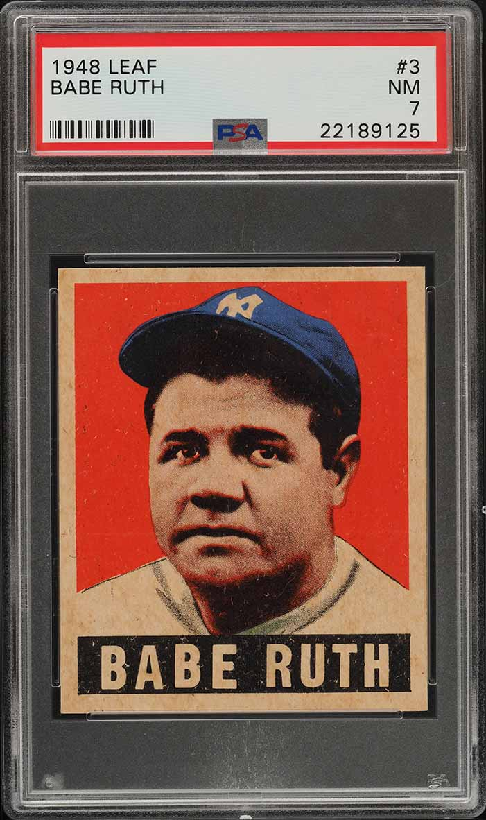 1948 Leaf Babe Ruth #3 PSA 7 NRMT (PWCC-A) - Image 1