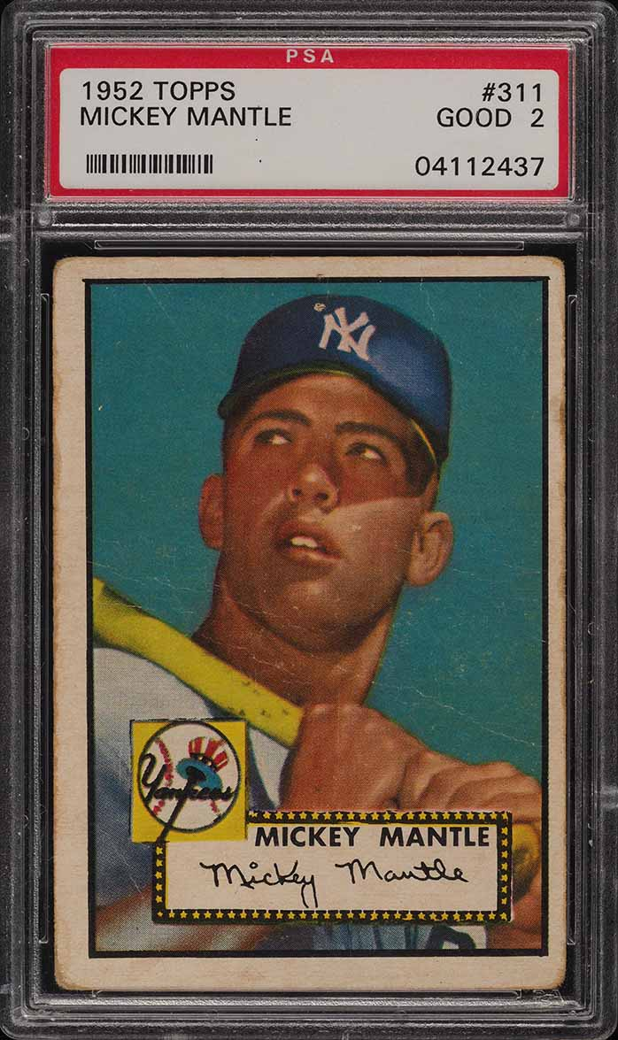 Image of: 1952 Topps Mickey Mantle #311 PSA 2 GD (PWCC)