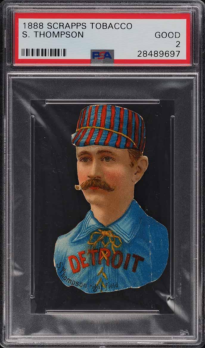1888 Scrapps Tobacco S. Thompson PSA 2 GD - Image 1