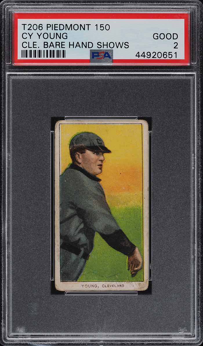 1909-11 T206 Cy Young CLEVELAND, BARE HAND SHOWS PSA 2 GD (PWCC) - Image 1