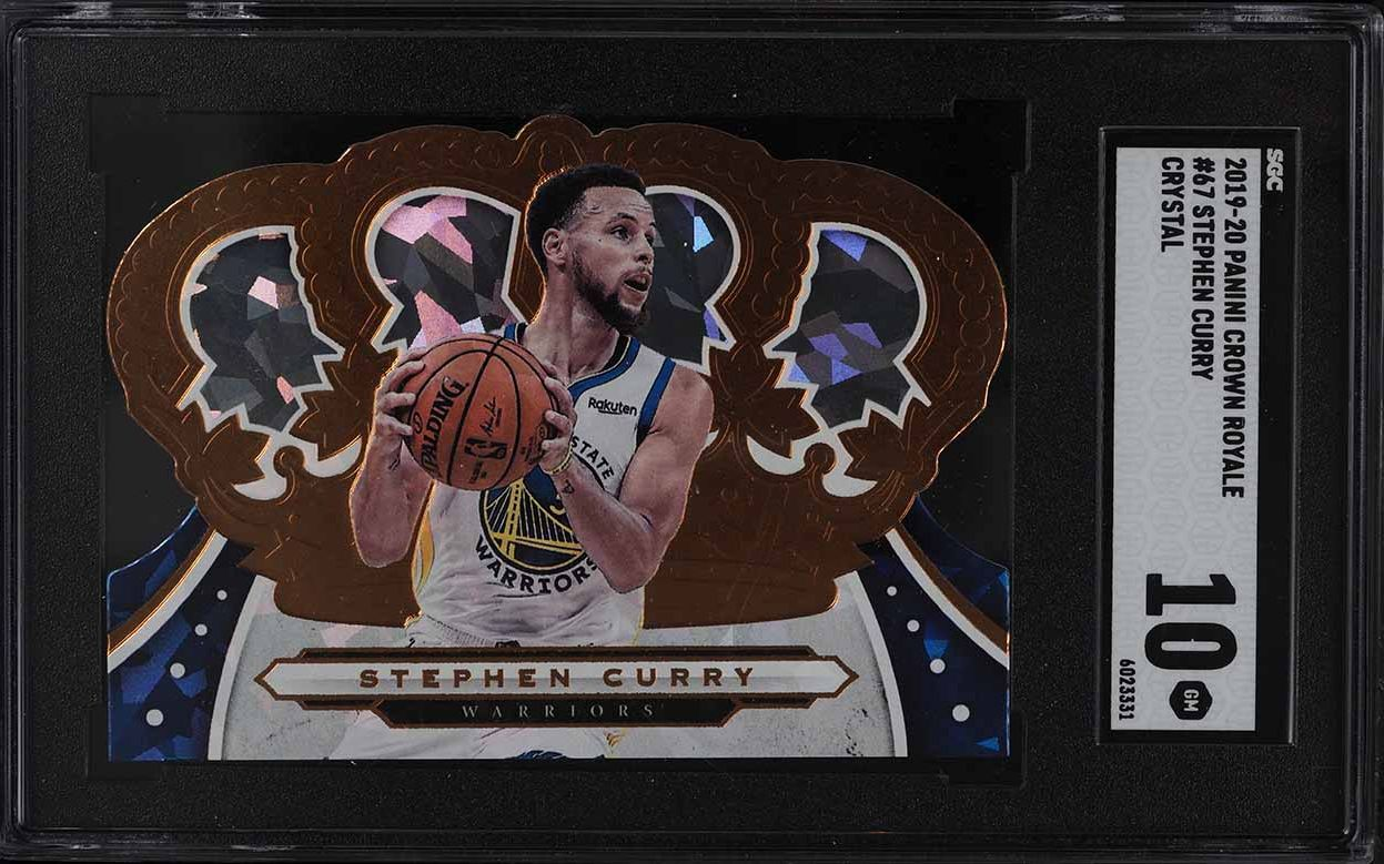 2019 Crown Royale Crystal Stephen Curry #67 SGC 10 GEM MINT - Image 1