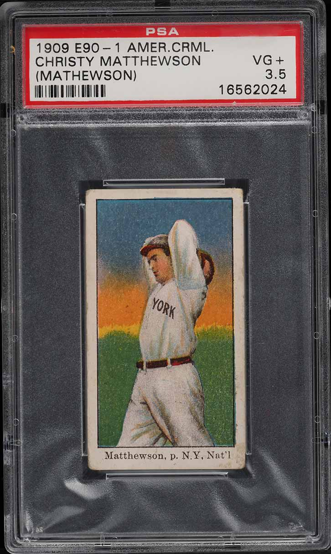 1909 E90-1 American Caramel Christy Mathewson PSA 3.5 VG+ (PWCC-A) - Image 1