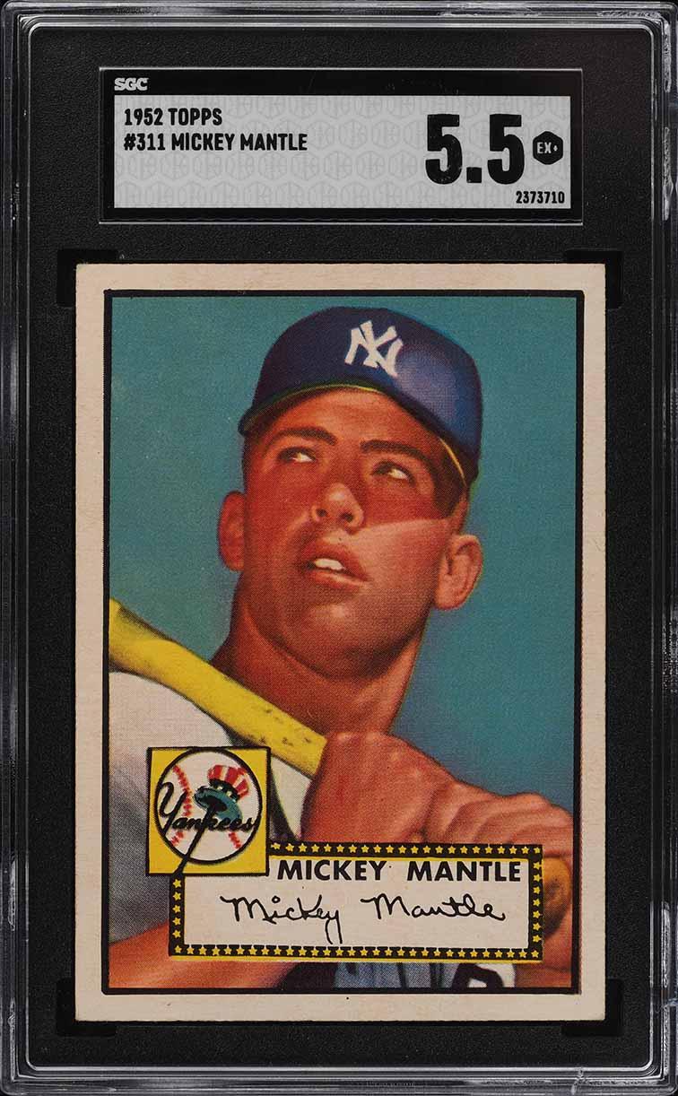 1952 Topps Mickey Mantle #311 SGC 5.5 EX+ (PWCC-E) - Image 1