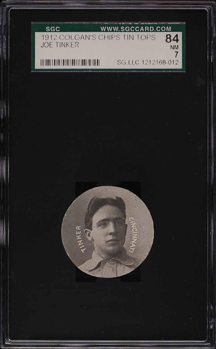 1909 Colgan's Chips Tin Tops Joe Tinker SGC 7 NRMT - Image 1