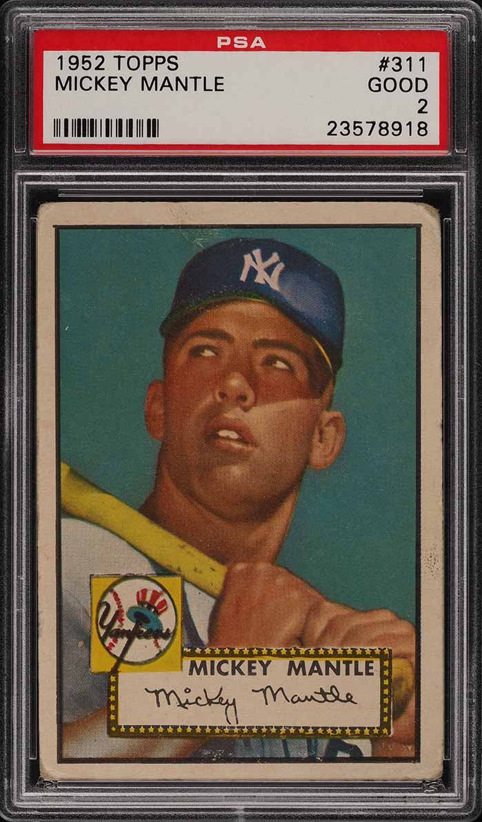 1952 Topps Mickey Mantle #311 PSA 2 GD (PWCC-PQ) - Image 1