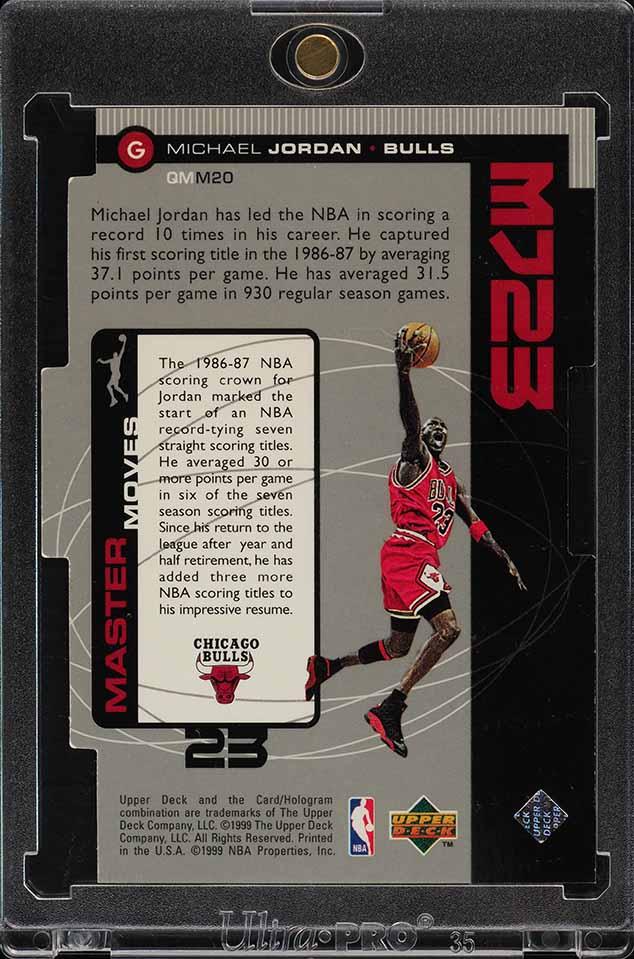 1998 Upper Deck MJ23 Quantum Silver Die-Cut Michael Jordan 17/23 #M20 (PWCC) - Image 2