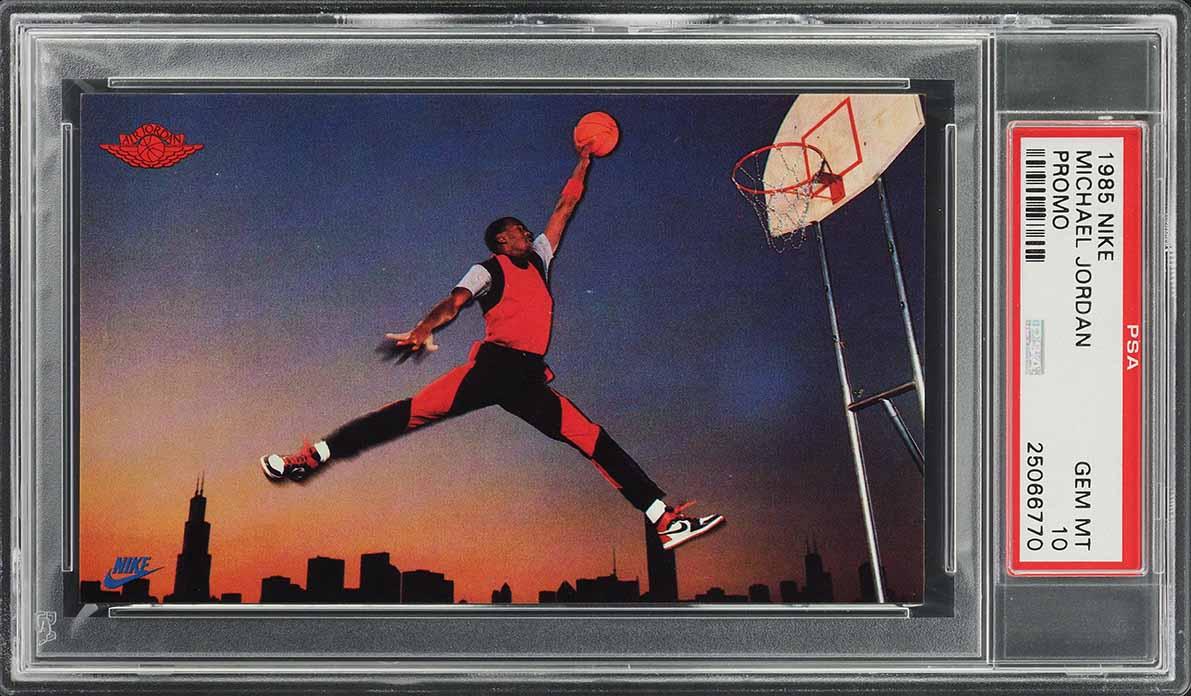 1985 Nike Promo Michael Jordan Air Jordan 1 ROOKIE RC PSA 10 GEM MINT (PWCC) - Image 1