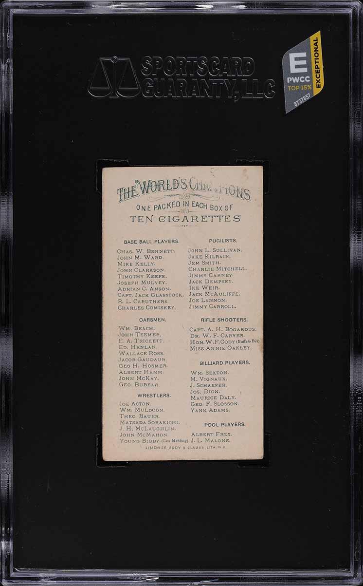 1887 N28 Allen & Ginter Capt. Jack Glasscock SGC 2 GD (PWCC-E) - Image 2