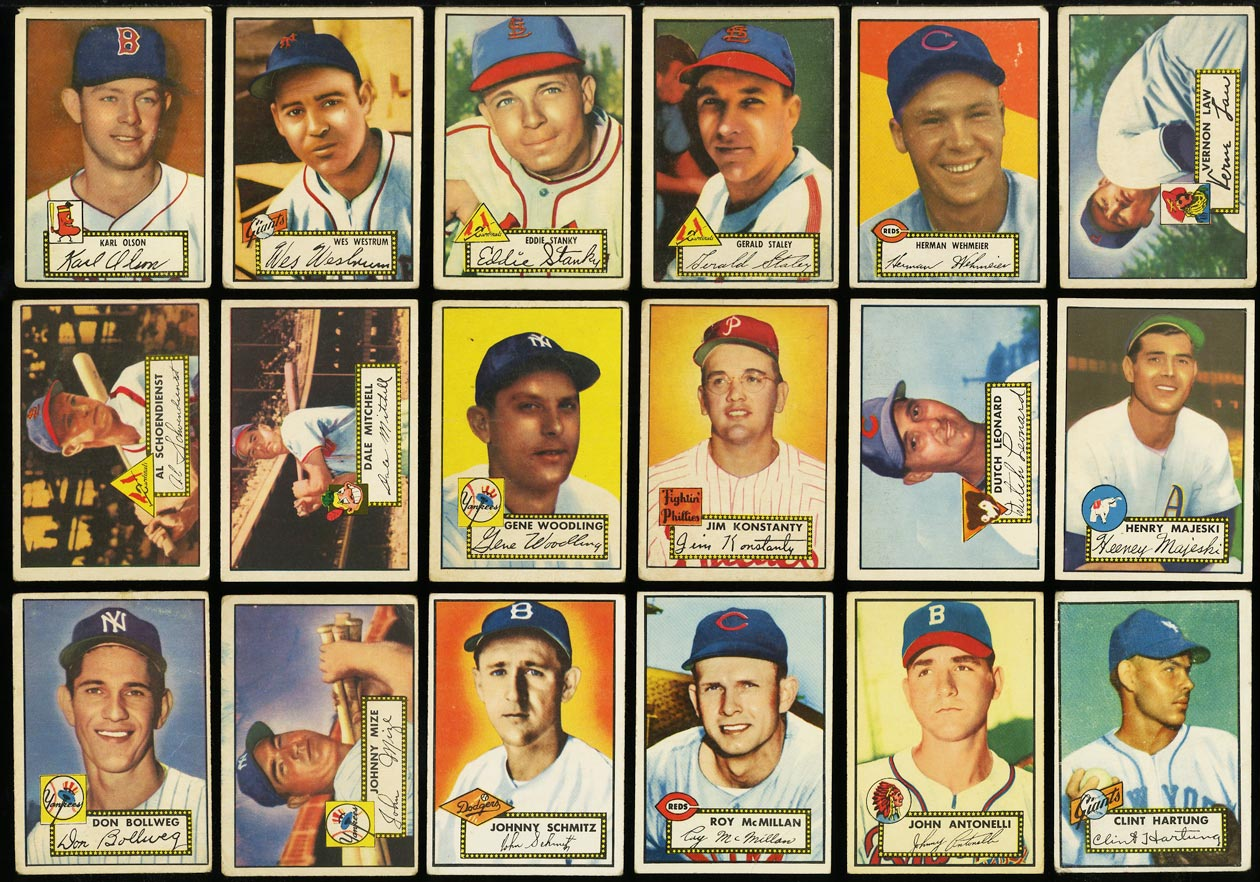 1952 Topps Lo-Mid Grd COMPLETE SET Mays Mathews Berra Robinson Mantle PSA (PWCC) - Image 9