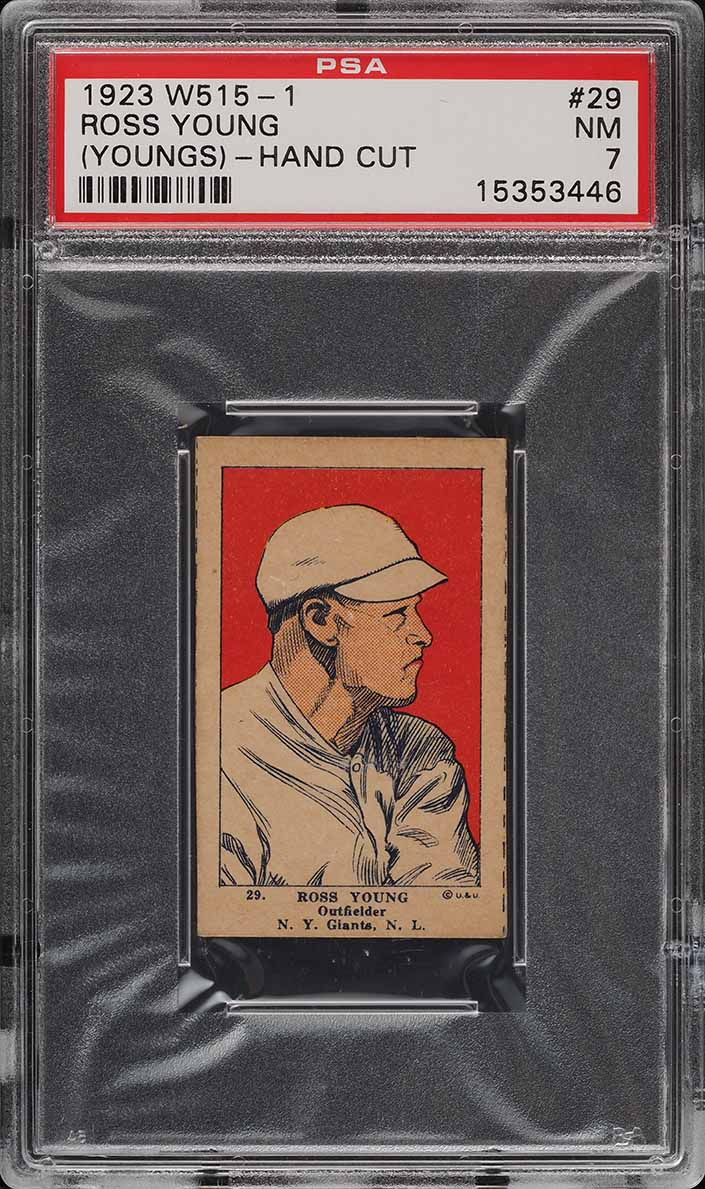 1923 W515-1 Strip Card Ross Youngs #29 PSA 7 NRMT - Image 1