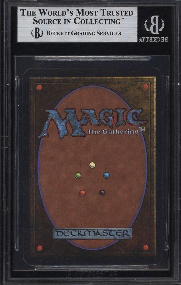 1993 Magic The Gathering MTG Alpha Dual Land Underground Sea R L BGS 9 MT (PWCC) - Image 2