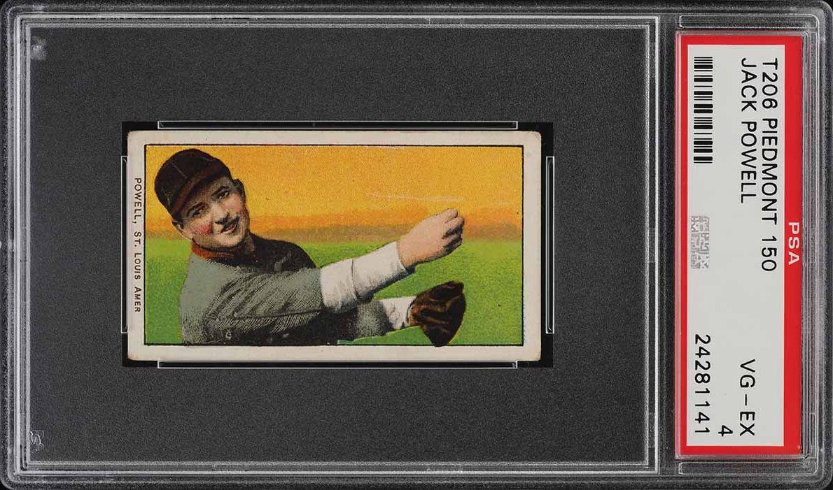 1909-11 T206 SETBREAK Jack Powell HORIZONTAL PSA 4 VGEX (PWCC) - Image 1