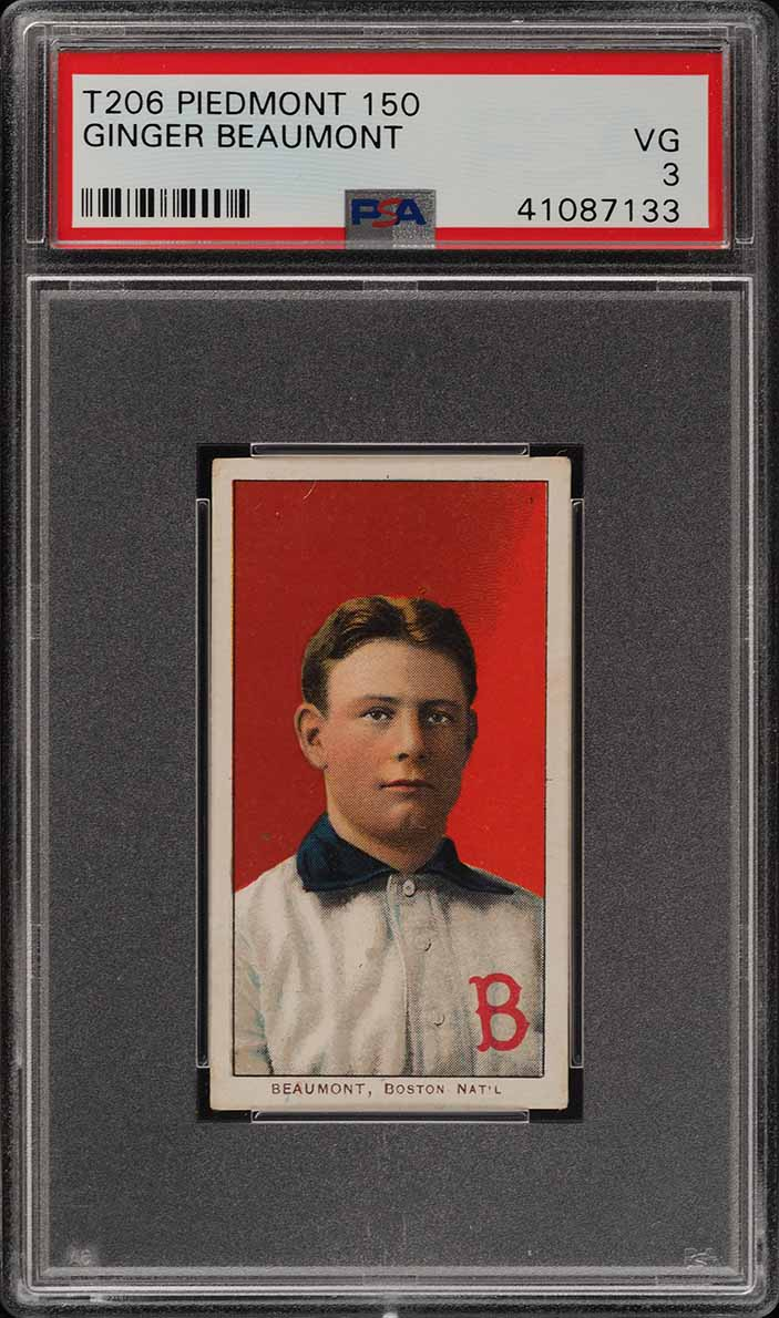 1909-11 T206 Ginger Beaumont PSA 3 VG (PWCC) - Image 1