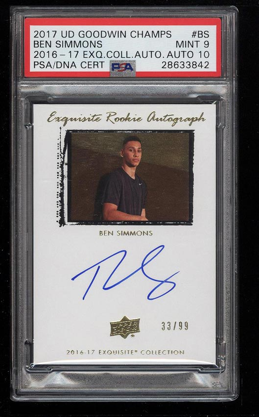 2016 Exquisite Collection Ben Simmons Rookie Psadna 10