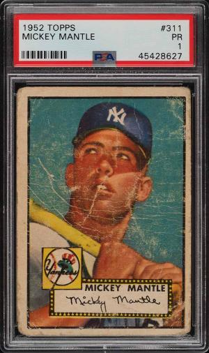 Image of: 1952 Topps Mickey Mantle #311 PSA 1 PR (PWCC)