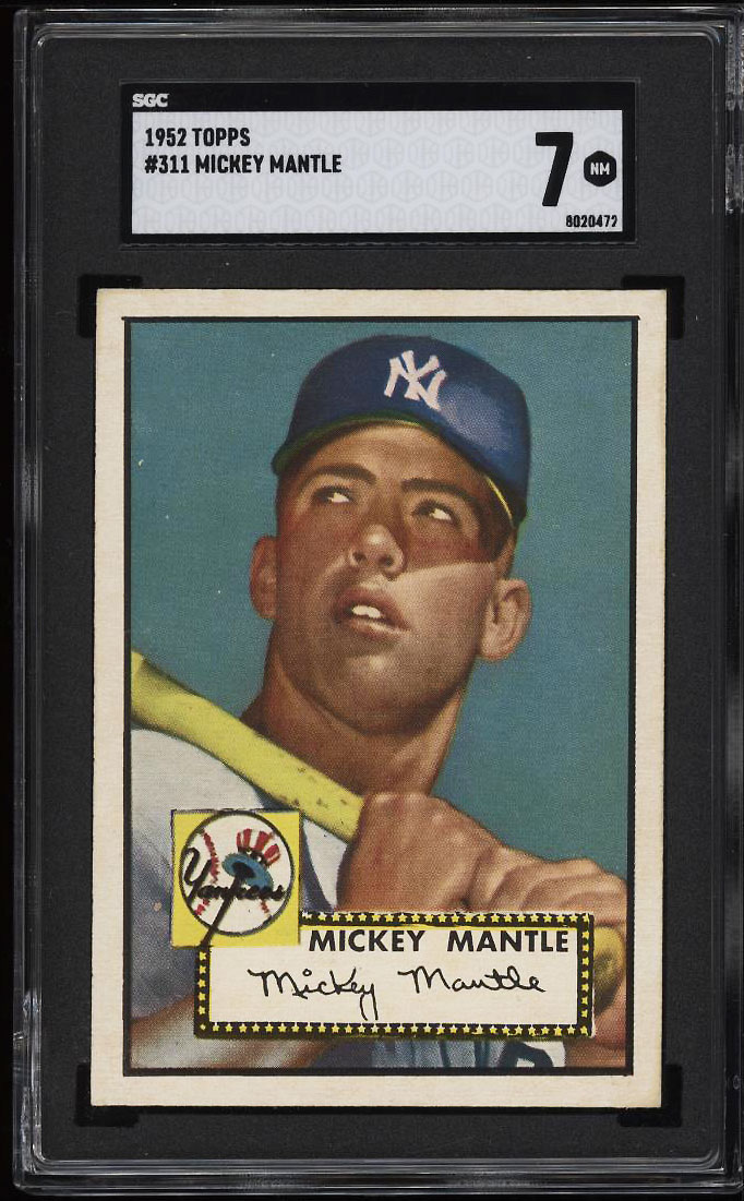 1952 Topps Mickey Mantle #311 SGC 7 NRMT (PWCC-PQ) - Image 1