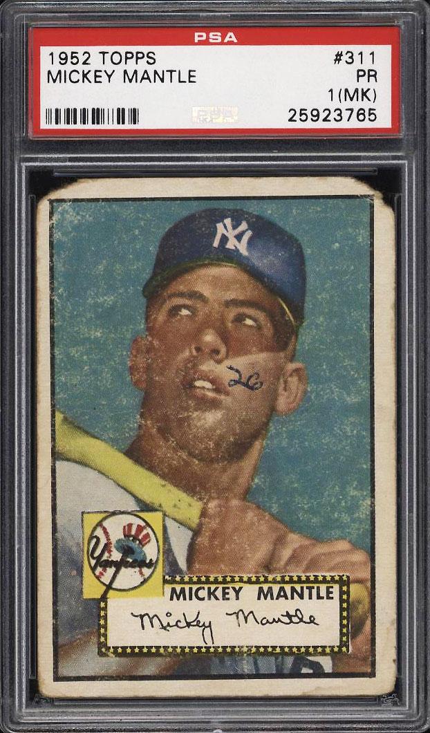 1952 Topps SETBREAK Mickey Mantle #311 PSA 1(mk) PR (PWCC) - Image 1