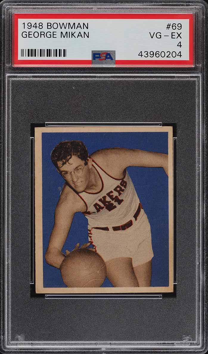 1948 Bowman Basketball George Mikan ROOKIE RC #69 PSA 4 VGEX (PWCC-A) - Image 1