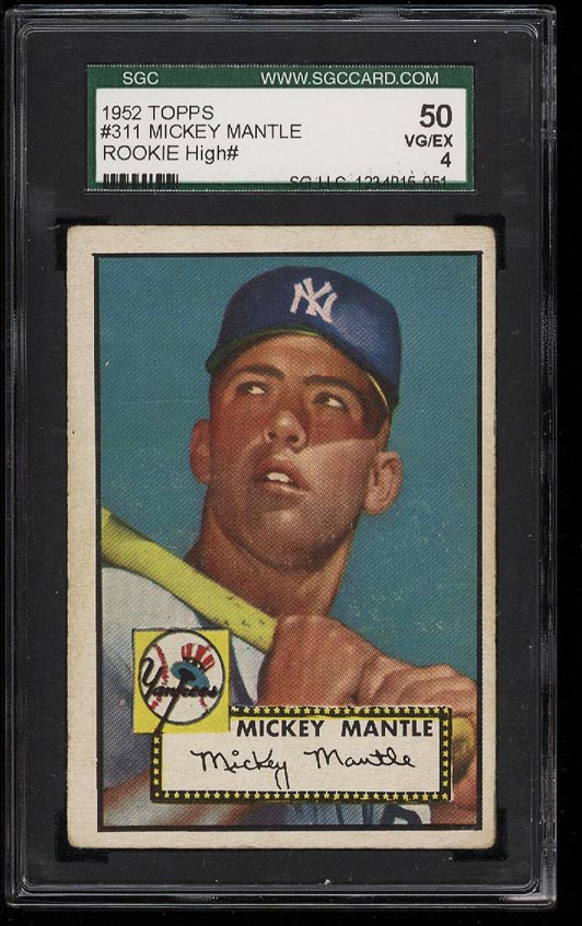 1952 Topps Mickey Mantle #311 SGC 4/50 VGEX (PWCC) - Image 1