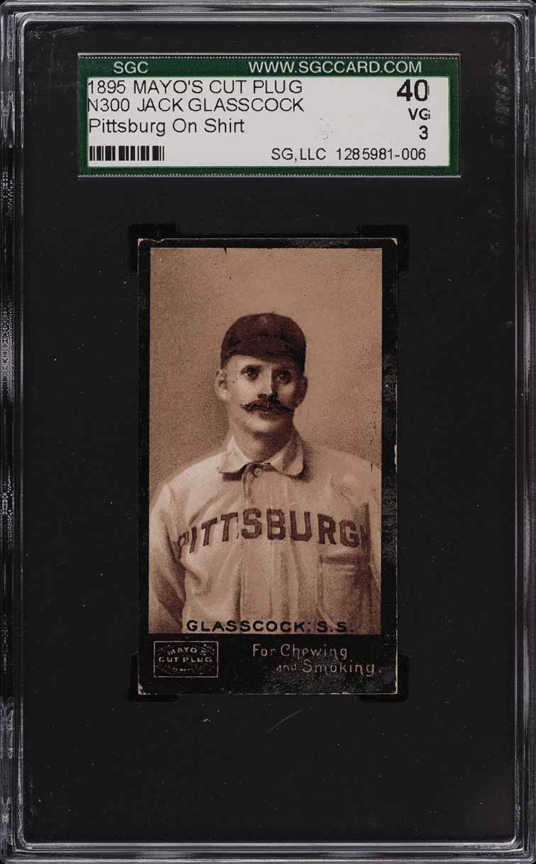 1895 N300 Mayo's Cut Plug Jack Glasscock PITTSBURG ON SHIRT SGC 3 VG - Image 1