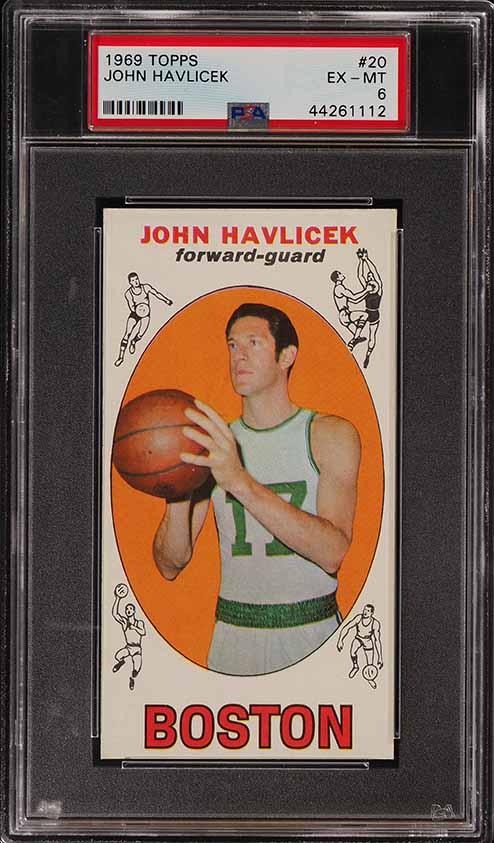 1969 Topps Basketball John Havlicek ROOKIE RC #20 PSA 6 EXMT (PWCC) - Image 1