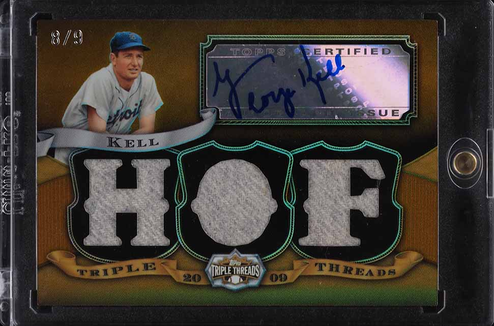 2009 Topps Triple Threads Kell PATCH AUTO /9 #TTAR-67 - Image 1