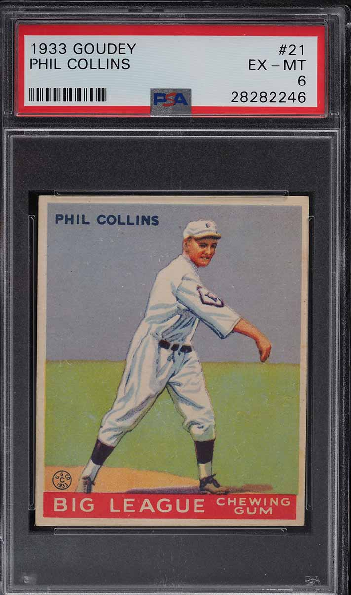 1933 Goudey Phil Collins #21 PSA 6 EXMT - Image 1
