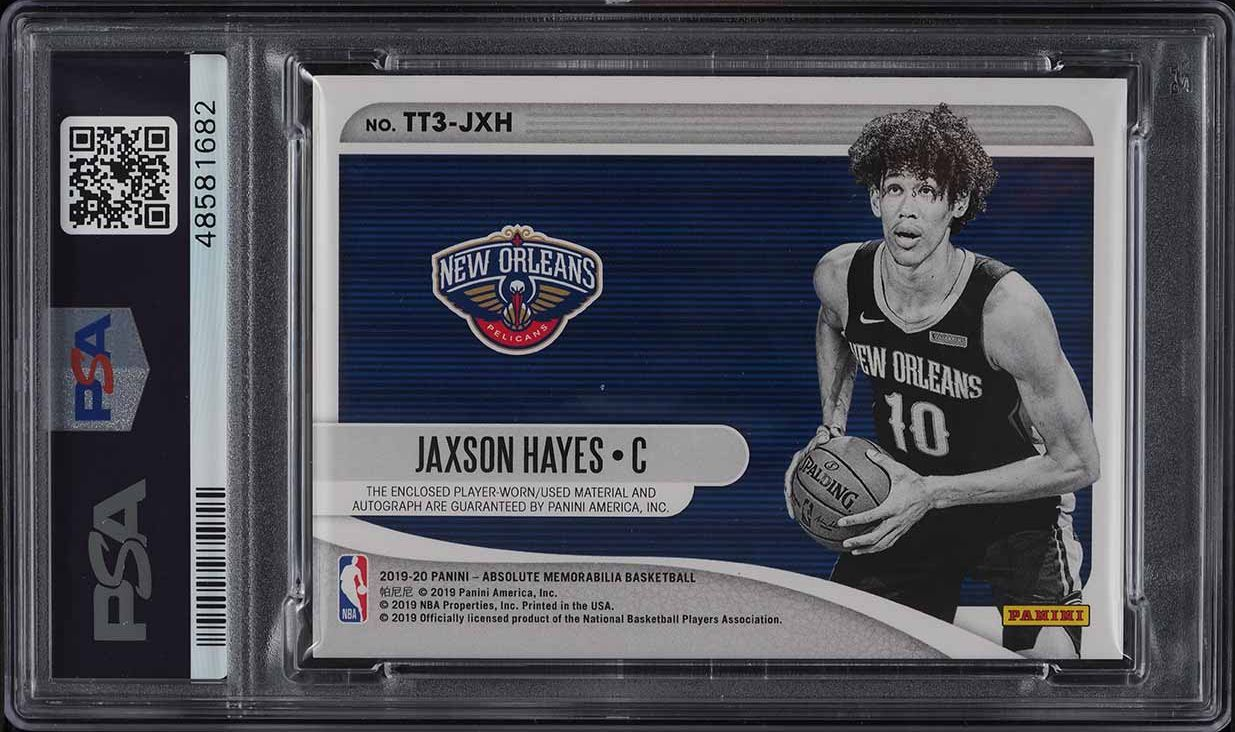 2019 Absolute Tools Of The Trade Jaxson Hayes ROOKIE RC PATCH AUTO /199 PSA 8 - Image 2