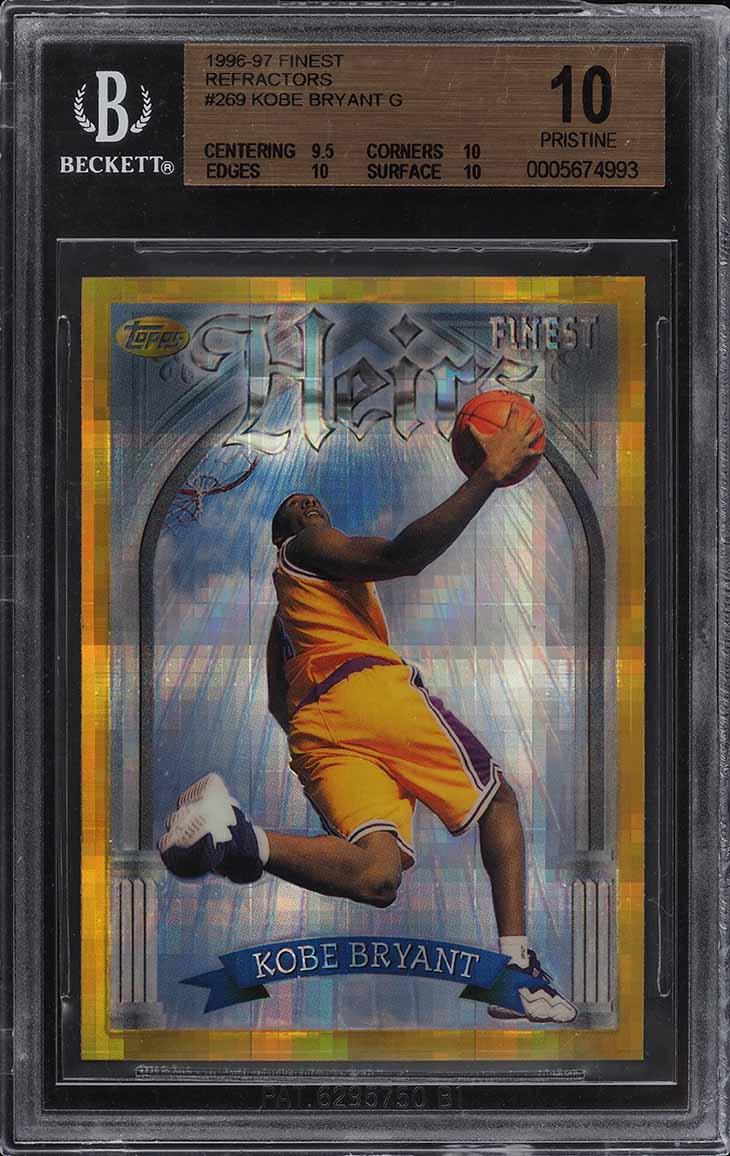 1996 Finest Gold Refractor Kobe Bryant ROOKIE RC #269 BGS 10 PRISTINE (PWCC) - Image 1