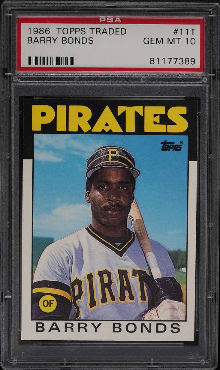 1986 Topps Traded Barry Bonds ROOKIE RC #11T PSA 10 GEM MINT - Image 1