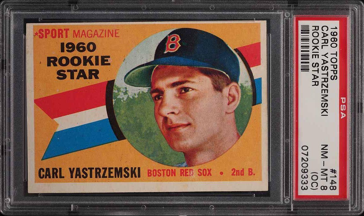 1960 Topps Carl Yastrzemski ROOKIE RC #148 PSA 8(oc) NM-MT - Image 1