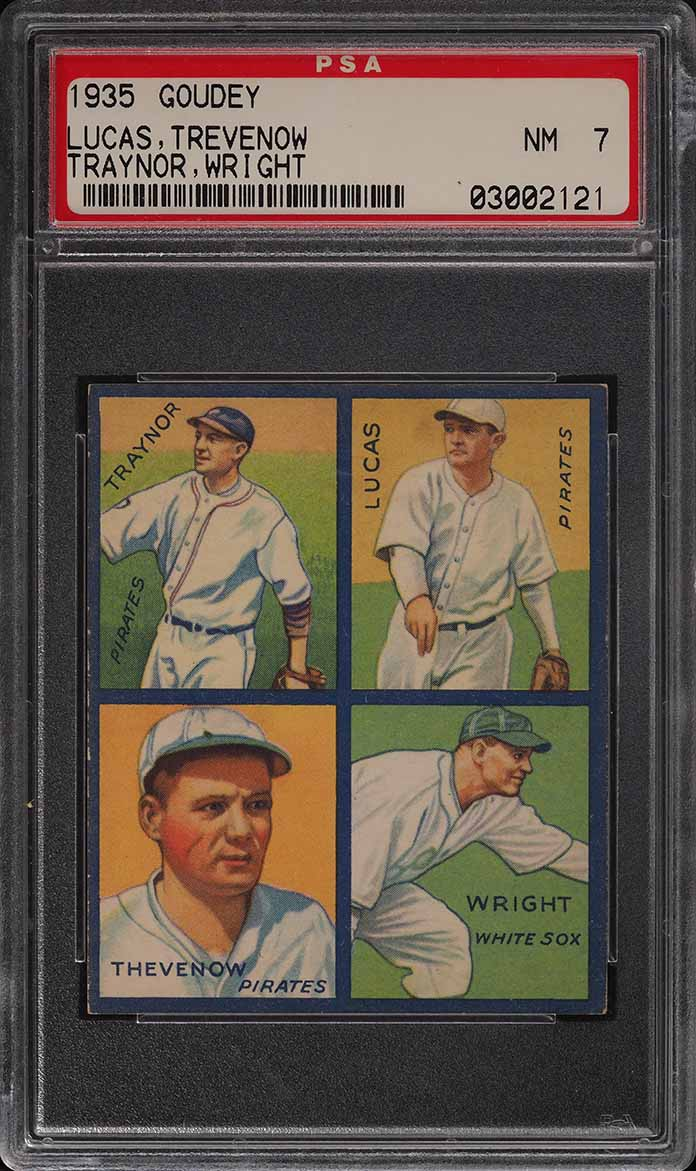 1935 Goudey 4-In-1 Thevenow Wright Traynor Lucas PSA 7 NRMT - Image 1