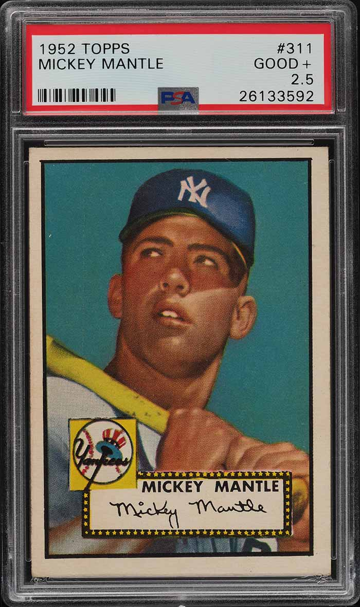 1952 Topps Mickey Mantle #311 PSA 2.5 GD+ (PWCC-S) - Image 1
