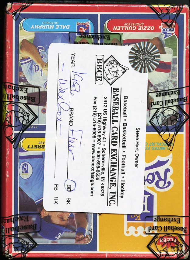 1986 Fleer Wax Box, 36ct Wax Packs, Nolan Ryan Jose Canseco ROOKIE RC? BBCE AUTH - Image 2