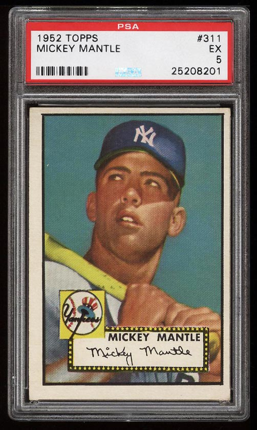 1952 Topps Mickey Mantle #311 PSA 5 EX (PWCC) - Image 1