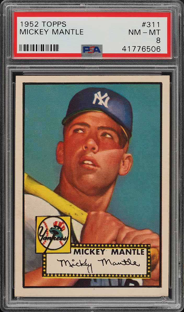 Image of: 1952 Topps Mickey Mantle #311 PSA 8 NM-MT (PWCC-A) - Certified Top 30%