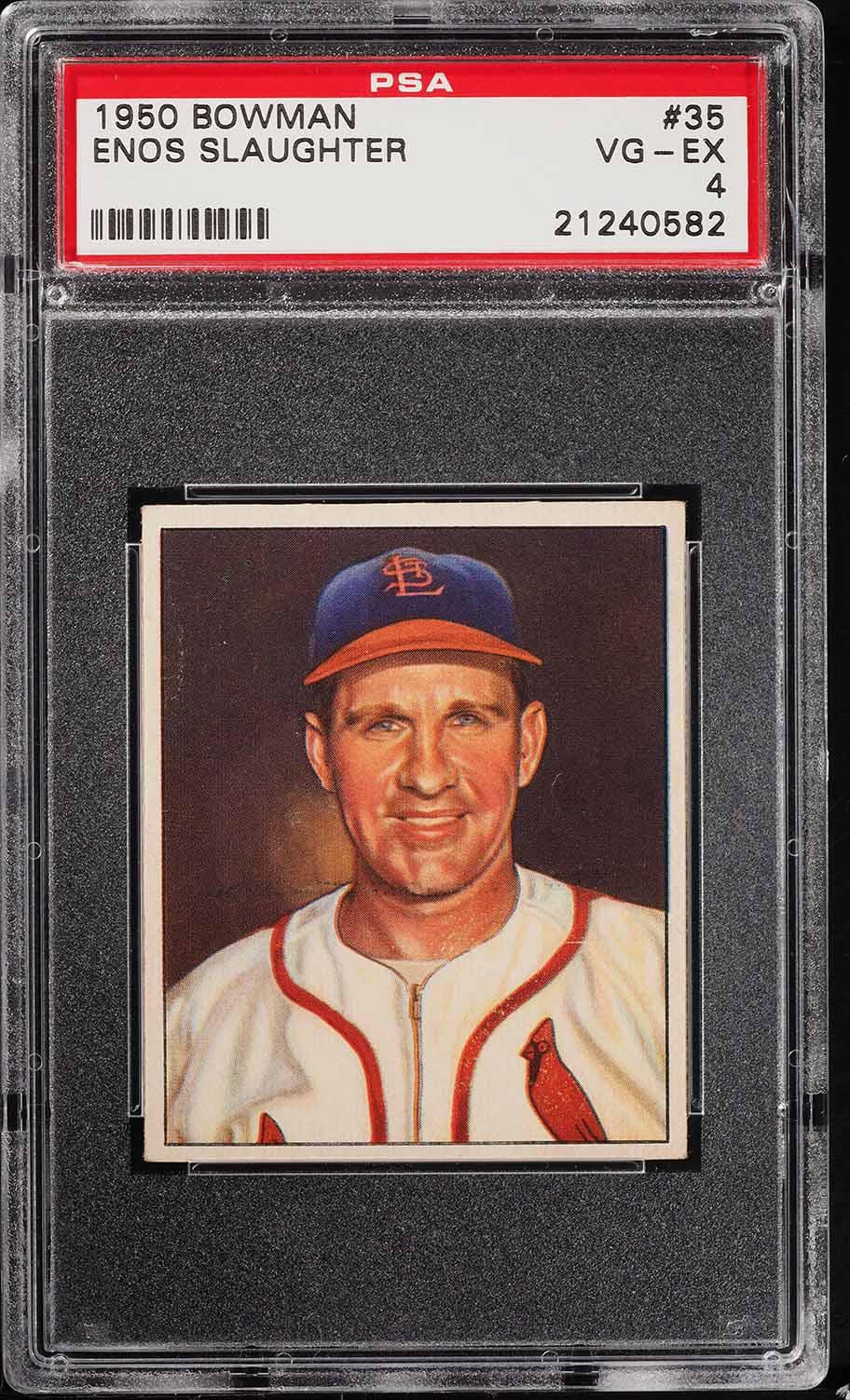 1950 Bowman Enos Slaughter #35 PSA 4 VGEX (PWCC) - Image 1