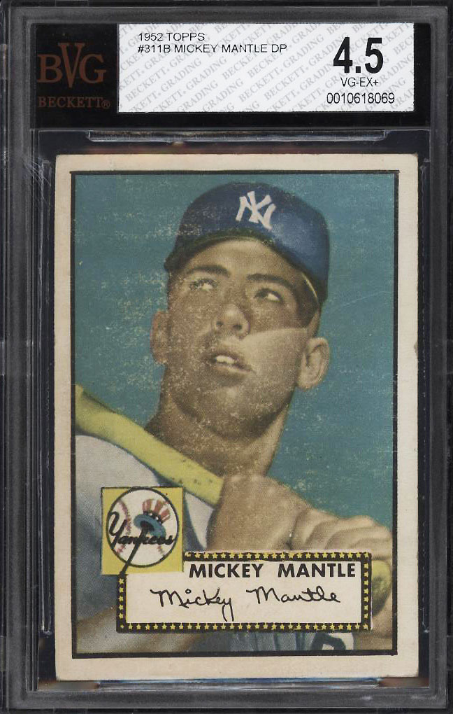 1952 Topps Mickey Mantle #311 BVG 4.5 VGEX+ (PWCC) - Image 1