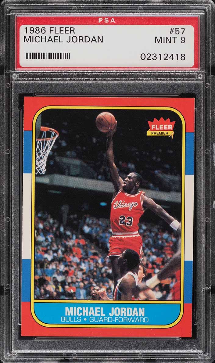 1986 Fleer Basketball Michael Jordan ROOKIE RC #57 PSA 9 MINT (PWCC-E) - Image 1